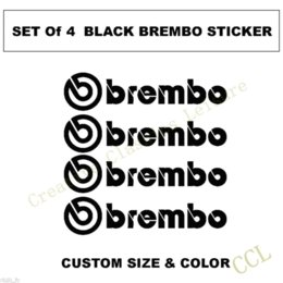 Wholesale Brembo Logo Decal sticker Brembo Brake Caliper Vinyl Decals Sticker Set of Stickers Auto performance decoration