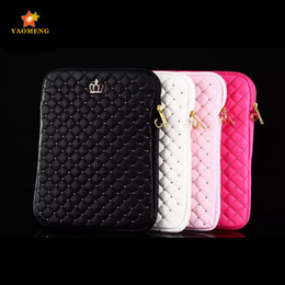 Wholesale Universal Royal crown Pu Leather tablet sleeve for quot Apple iPad air air pouch case cover liner package bag