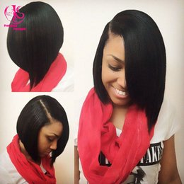 10''-16'' straight Brazilian hair synthetic lace front wig short bob wigs black wigs heat resistant wig for black women