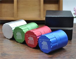 Wholesale 42MM quot Cali Crusher Homegrown Herb Spice Tobacco Grinder Piece Aluminum with Gift Box