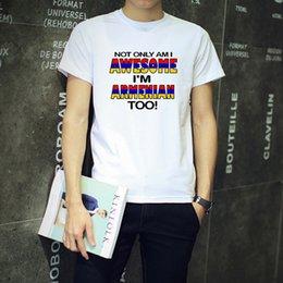 Wholesale Mens Funny Cool Armenia Armenian Flag100 Cotton Round Neck T shirts Novelty Gifts Present Ideas Joke