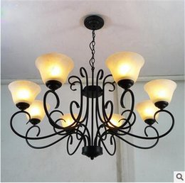 LRE037-European style luxury hand made iron glass modern crystal pendant light for bedroom and dining room