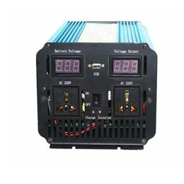 1500W Peak 3000W 12VDC TO 220VAC led display Pure Sine Wave power inverter+Charger & UPS
