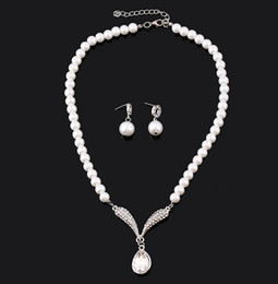 Wholesale The new han edition necklace bridal jewelry pearl sets foreign trade Korean wedding the bride adorn article suit