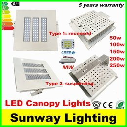 Wholesale Gas station Led canopy lights lighting w w w w w Cree led recessed lights suspending led lamps AC V CE UL CSA