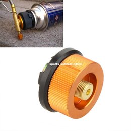 Wholesale Hot Sale Outdoor Camping Hiking Stove Adaptor Burner Conversion Split Type Gas Furnace Connector Cartridge Tank Adapter H12822