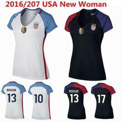 Wholesale Alex Lloyd Morgan Women Football Shirt shirts Abby Wambach only Home of Lady Black High Quality New t shirts