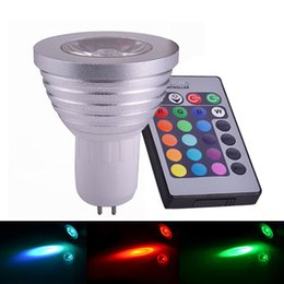 GU5.3 4W LED RGB Lamp Spot Light 16 Colors Changing 85-265V LED RGB Bulb Spotlight Energy Saving With IR Remote