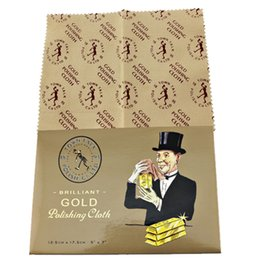 Gold Polishing Cloth jewelry clean cloth Box 1 slice packing 10 pieces of packaging to sell wholesale free shipping