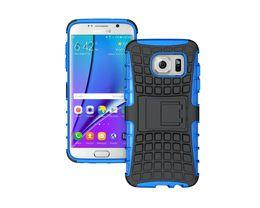 Wholesale s7edge para Samsung Galaxy s6 s7plus cubierta de la cáscara de la manera conveniente de PC del teléfono celular de la cubierta del caso de choque a prueba de agua y se rascó fijo TPU resistente