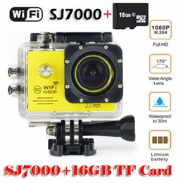 """16GB TF card + SJ7000 Full HD 1080P Waterproof Action Camera WIFI Sports Camcorder +Extra battery + Charger 2.0""""LCD Diving Helmet Camera DVR"""