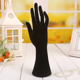 Wholesale Black Plastic Hand Model Jewelry display stand Ring blacelet necklace display stand Holder Velvet