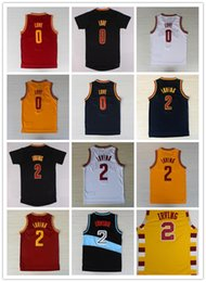 Wholesale 2016 Men Kyrie Irving Jersey New Rev Kevin Love Shirts Fashion Retro Trowback Red White Yellow Black Navy Blue Good