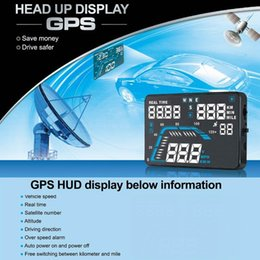 Wholesale Q7 HUD inch Car GPS Head Up Display Windscreen Projector Vehicle Speed Warning Fuel Consumption Car Driving Data Diagnosis
