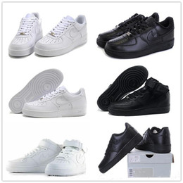 Wholesale 2016 force men women Classical All White black Sports sneakers air one Running Shoes outdoor shoes Basketball Shoes cheap online for sale