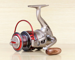 DF1000-7000 series 10BB Red pesca fishing wheel smooth metal rocker wire cup folding spinning fishing reels accessories