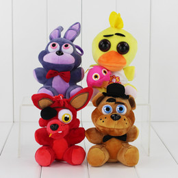 13-18cm Five Nights at Freddy's Bonnie Foxy Freddy Chica Fazbear Fever Plush Soft Doll Toy free shipping