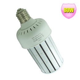 Warehouse lamp Replaces 400W Metal Halide Bulb Super Brightness PC Cover Bulb E39 80W led corn lamp 100-277V high bright Day White light
