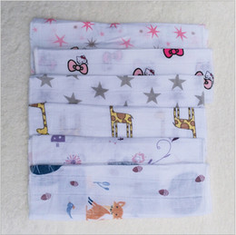 Wholesale Baby Muslin Saliva Bibs Pinafore Apron Infant Cotton Bib Bandana Face Back Towel Fashion Burp Cloths Wash Towels Kerchief Head Scarf B1067