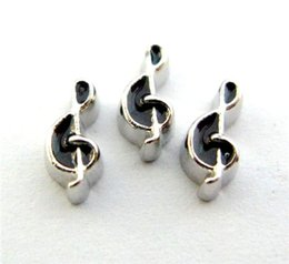 New Design FC640 floating locket charms 10pcs Music Notation for floating living locket as gift wholesales free shipping