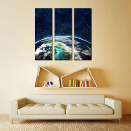 Wholesale the Earth Panels Modern Landscape Artwork Giclee Canvas Prints and Canvas Wall Art Ready to Hang for Living Room Bedroom Home Decor