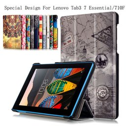 Wholesale Colored Drawing colors Pu Leather Stand Case Cover Shield For Lenovo Tab3 Essential TB3 F F