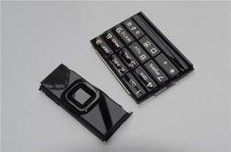 Wholesale For Nokia A arte dark Gold housing for Nokia arte black keypad for
