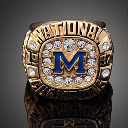 Wholesale High Quality Heavy Solid Michigan Wolverines Rose Bowl Championship Ring Sport Fan Best Gift Men Jewelry
