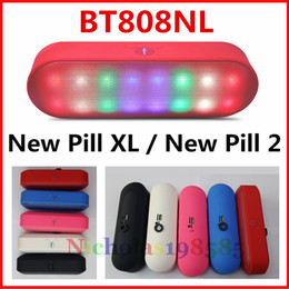 Wholesale BT808NL Beautiful LED Flash Stereo Mini Portable Wireless Bluetooth Speaker With Colorful Pulse Light TF USB FM Music Speaker PK BT808 Piill