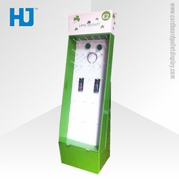 Wholesale Professional electronic products display stand customized cardboard hook display