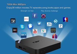 Mini boîte hd à vendre-T95N Mini 8Spro 4K TV BOX KODI Entièrement Loaded Construit en WiFi Best TV TV Box S905x Quad-core 2G + 8G Media Box