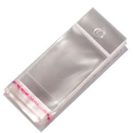 Promotion sac de rangement clair 5 tailles 100pcs / lot Effacer emballage Favor Sacs Affichage Bijoux Sacs Soutien Bijoux