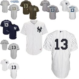 Wholesale White Navy Blue Pinstripe Alex Rodriguez Authentic Jersey Men s New York Yankees Home