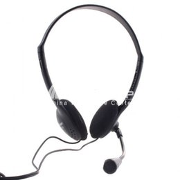 Wholesale XTY mm Wired PC Headphone Headset with Microphone MSN Skype Talk for Tablet PC Laptop Desktop Accessories