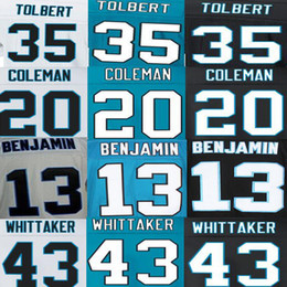 Wholesale Fozzy Whittaker Jersey Kelvin Benjamin Kurt Coleman Mike Tolbert American Football Jerseys Elite Sport Black White Blue