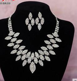 crystal diamond bride wedding set necklace earings htutyu