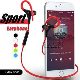 Wholesale Bluetooth Earphone Sport Wireless Headset Hook Stereo Music Player Neckband Earphone Jogging Headphone For Universal Cellphone In Retail Box