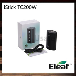 Wholesale Eleaf iStick TC200W Mod Upgradeable Firmware and TC Ti Ni SS TCR VW Modes iStick TC W Dual Circuit Protection Cell Original
