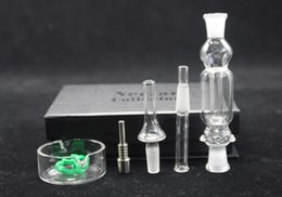 Wholesale 5pcs black mini Nectar collectors kit mm Micro Nectar Collector mini glass water pipes high quality best selling