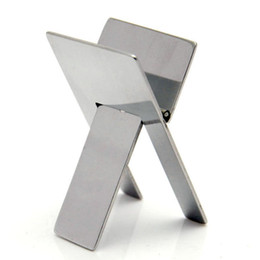 Wholesale High Quality Practical Stainless Steel Foldable Portable Cigar Stand Ashtray Holder Bracket