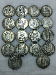 China Eighteen Arhats high quality 27g 38mm 18 Copper-nickel alloy Coins Free Shipping Set coin Iron coins