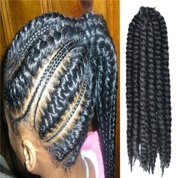 Los niños la extensión del pelo Peinado BraidsTwist Kanekalon Habana Mambo Gris oscuro 2X ganchillo a granel de las tramas del Trenzas sintéticas con aguja de ganchillo desde trenzas grises oscuros fabricantes