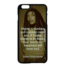 Wholesale Bob Marley Money quote fashion cell phone case for iphone s s c s plus