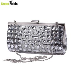 Wholesale 2016 new women s diamond evening bag wedding party beautiful clutch bag fashion women s wallets diamantes mujeres la cena XA425B