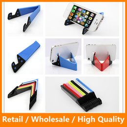 Wholesale Colorful Foldable Universal Mobile Phone Cellphone V Style Stand Holder for iPhone Plus iPad Samsung s7 s7edge Asus HTC M9