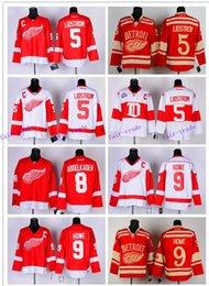 Wholesale 40pcs freeshipping Detroit Ice Hockey Red Wings Jerseys Lidstrom Abdelkader Howe jerseys black blue white jersey drop shipping