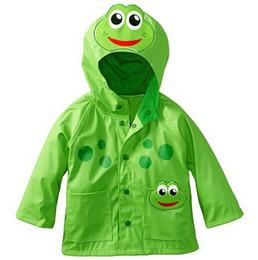 Wholesale 2016 baby fashion jacket wind and rain frog cartoon raincoat children aged children spring autumn hoodie in stock A24