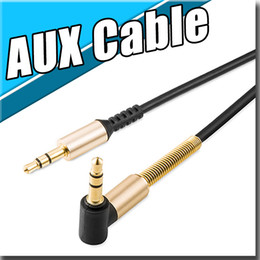 Wholesale AUX Cable Braided Woven Fabric wire Auxiliary Cords Male To Male M M m ft Lead for iphone