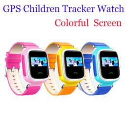 Wholesale Free Ship Children GPS Smart Watch Wristwatch SOS Call Location Finder Locator Device Tracker for Kid Safe Anti Lost Monitor Q60