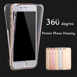 360 Degree All Packed Touch Screen For iPhone 4s 5S 6 6S 6Plus 7 7Plus Cover Ultrathin Clear Transparent TPU Silicone Flexible Double Case
